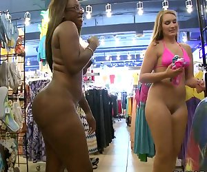 This week we have two babes with enormous asses: Nikki Stone and Bella. They prefer to get naughty in public places and today they are doing it in a store. Watch and have fun
